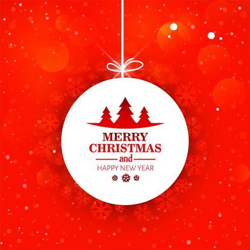 Fondo decorativo hermoso de la bola de la Feliz Navidad