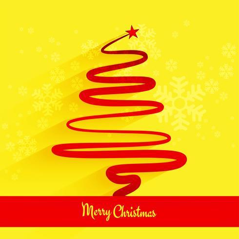 Feliz navidad fondo de árbol de mínima línea