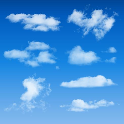 Clouds Shapes On Blue Sky Background