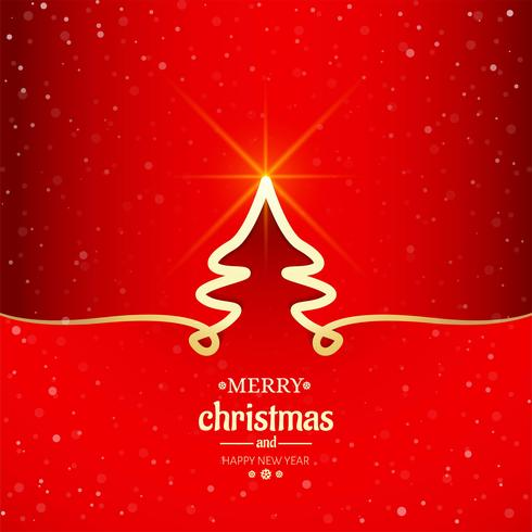 Merry christmas minimal line tree background vector