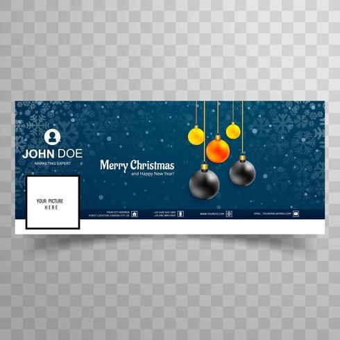God julkort med facebook-banner malldesign