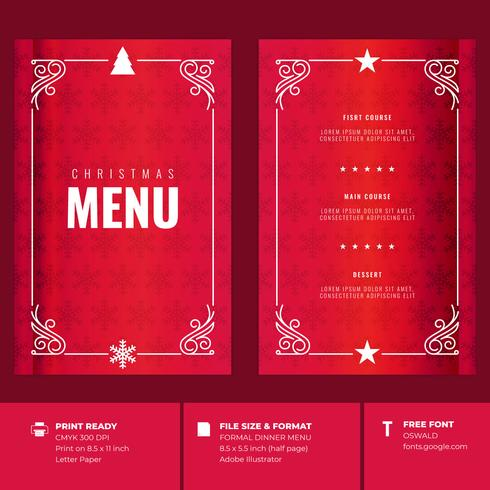 Restaurante Do Natal E Moldes Do Convite Do Menu Do Partido