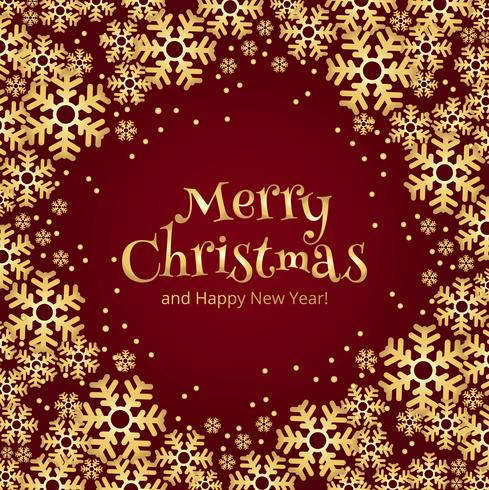 Bello fondo della carta del fiocco di neve di Buon Natale