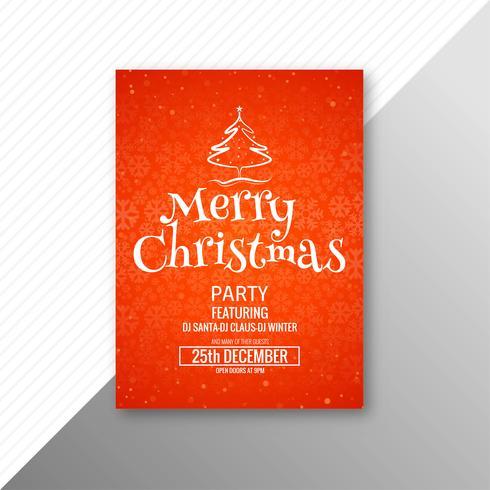 Diseño hermoso del folleto de la plantilla de la tarjeta de feliz Navidad