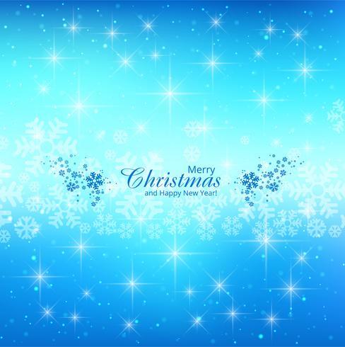 Cartão de feliz Natal brilha fundo azul