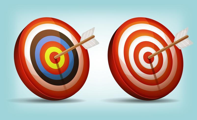 Dart Target With Arrow