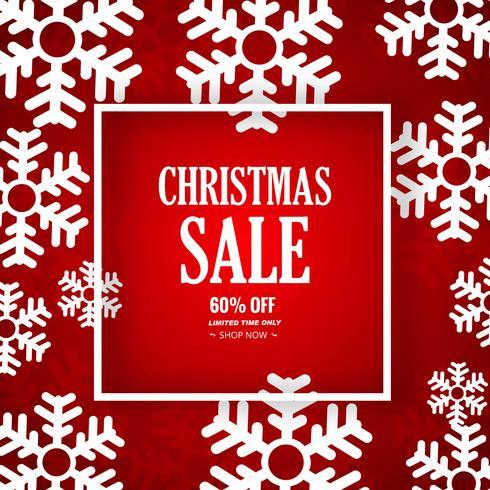 Fondo decorativo di vendita di Buon Natale del fiocco di neve