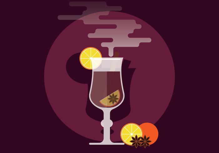 Illustrazione di vin brulè