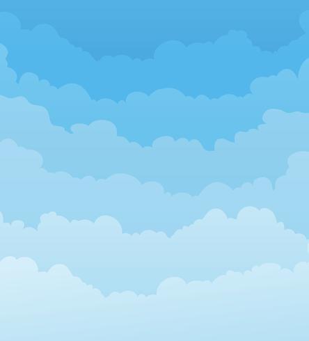 Fondo de cielo con capas de nubes vector