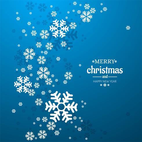 Fundo de Natal feliz Natal floco de neve