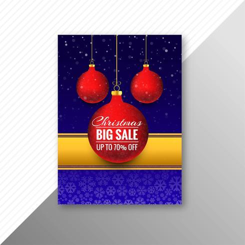 Vector de diseño hermoso folleto de bola de Navidad