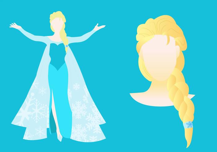 Princesa do gelo corpo inteiro e retrato