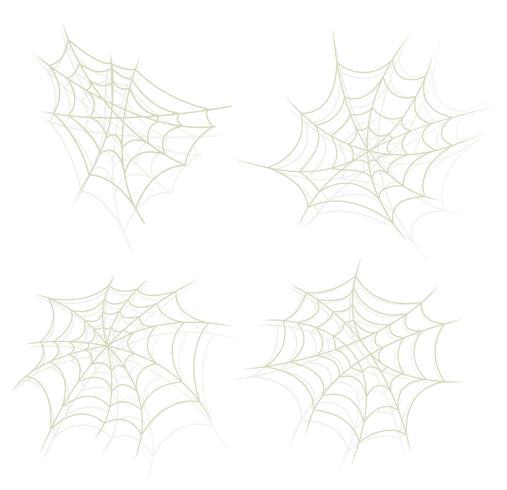 Spider Web Set vector