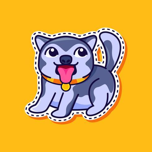 Vecteur de chien husky mignon