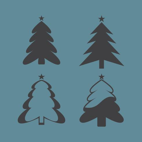 Christmas Tree Silhouttes vector
