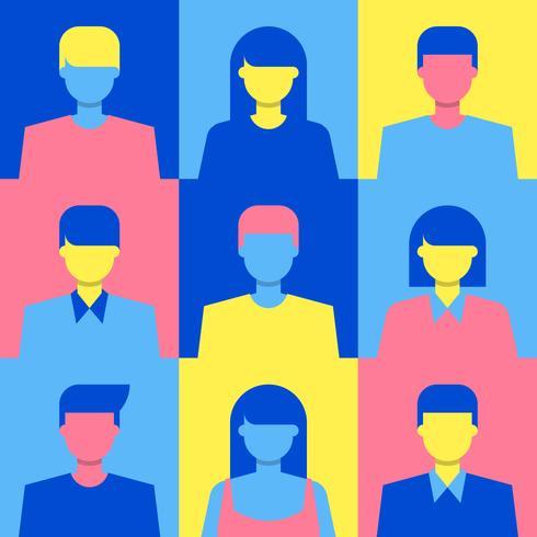 Concepto de sociedad multicultural moderna ilustración