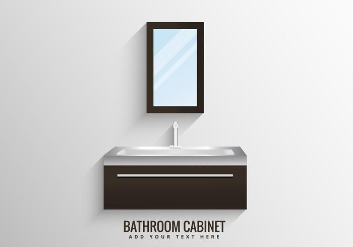clean bathroom cabinet vector
