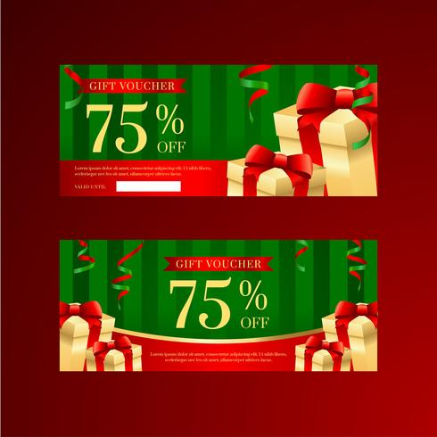 Christmas Prize Box Gift Voucher Templates vector