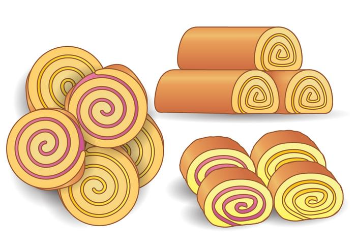 Cake And Jelly Roll Vector
