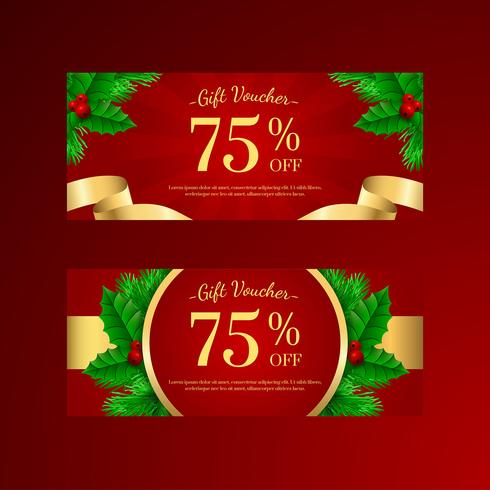 Christmas Holy Tree Gift Voucher Templates Download Free Vector
