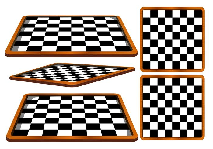 Vector de ángulos de tablero de ajedrez