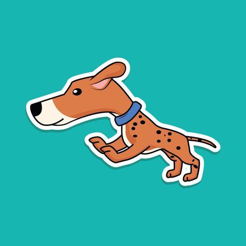 Jumping dog sticker