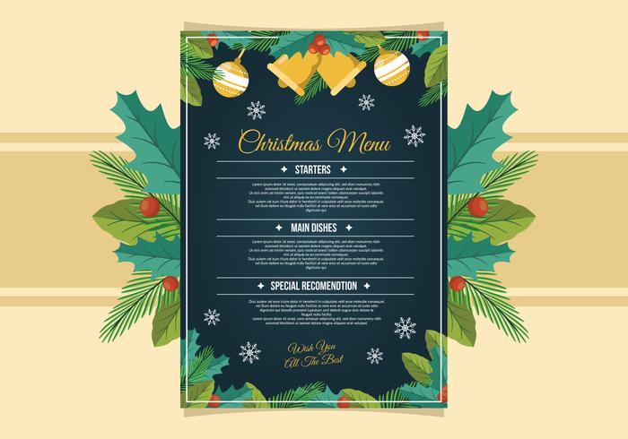 Plantilla de menú de la cena de Navidad