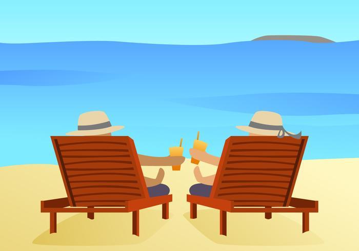 Vettori di attività da spiaggia