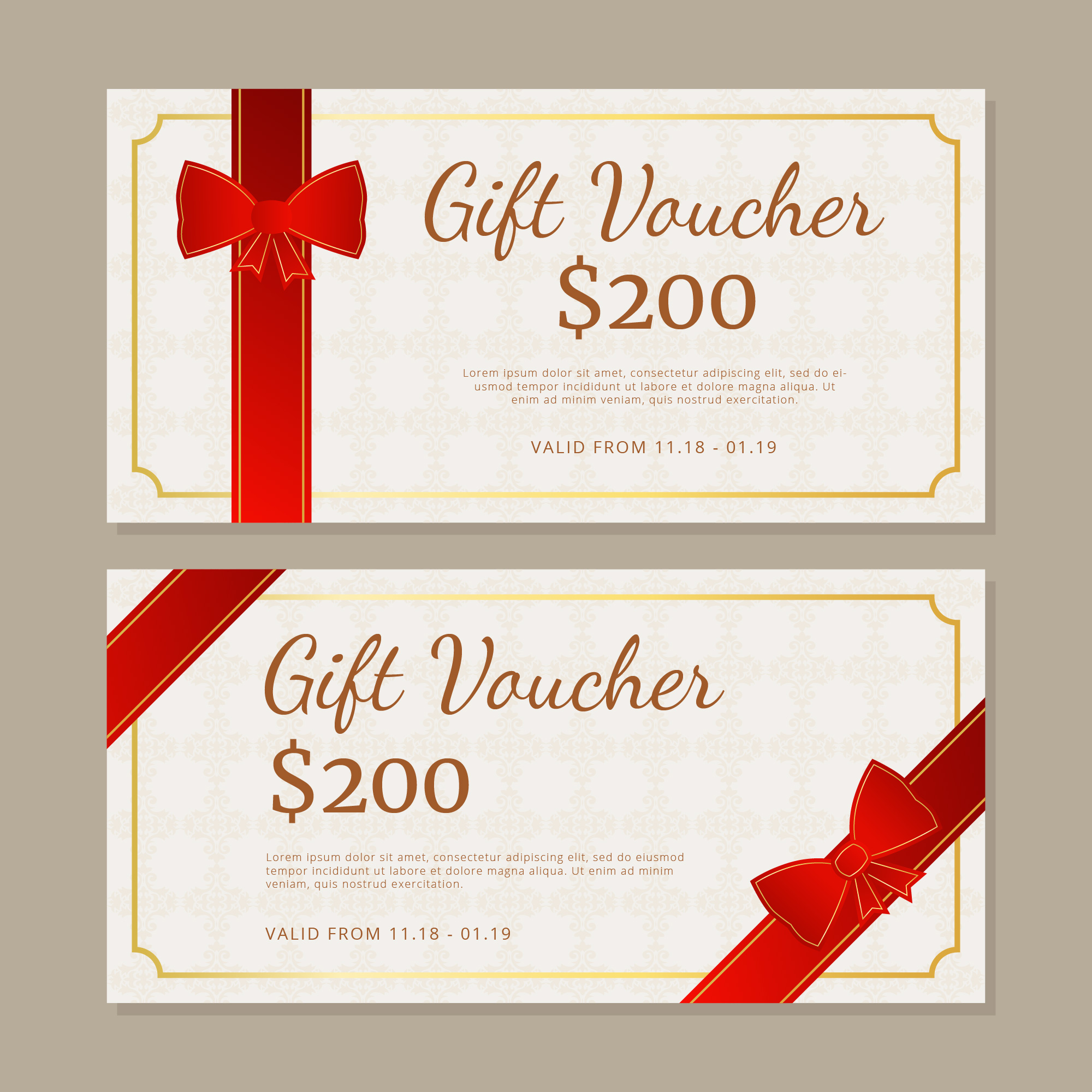 Gift Certificate Free Vector Art