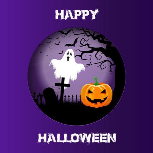 Fond d'Halloween avec un design de découpe