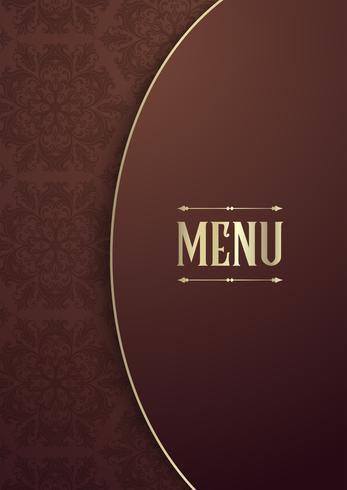 Design elegante da capa do menu vetor