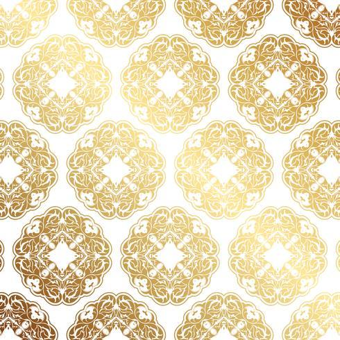 Decorative gold pattern background  vector