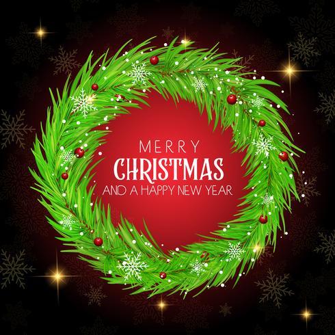 Fondo de guirnalda de Navidad vector