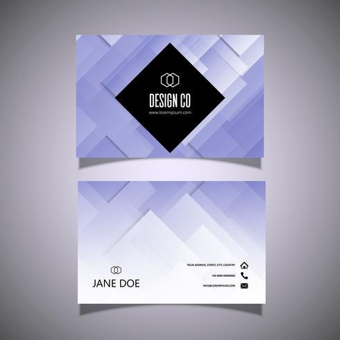 Diseño de tarjeta de visita Low Poly