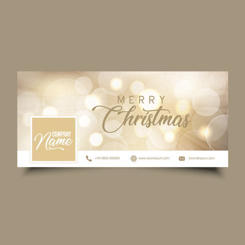 Copertura della timeline dei social media con il design di Natale vettore