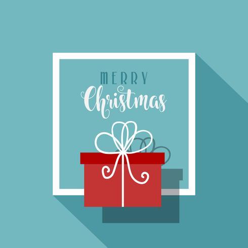 Fundo minimalista de Natal vetor