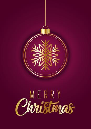 Elegante design di cartolina di Natale