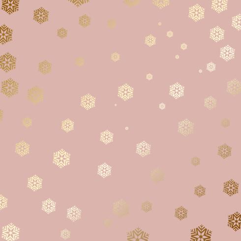 Gold snowflake background