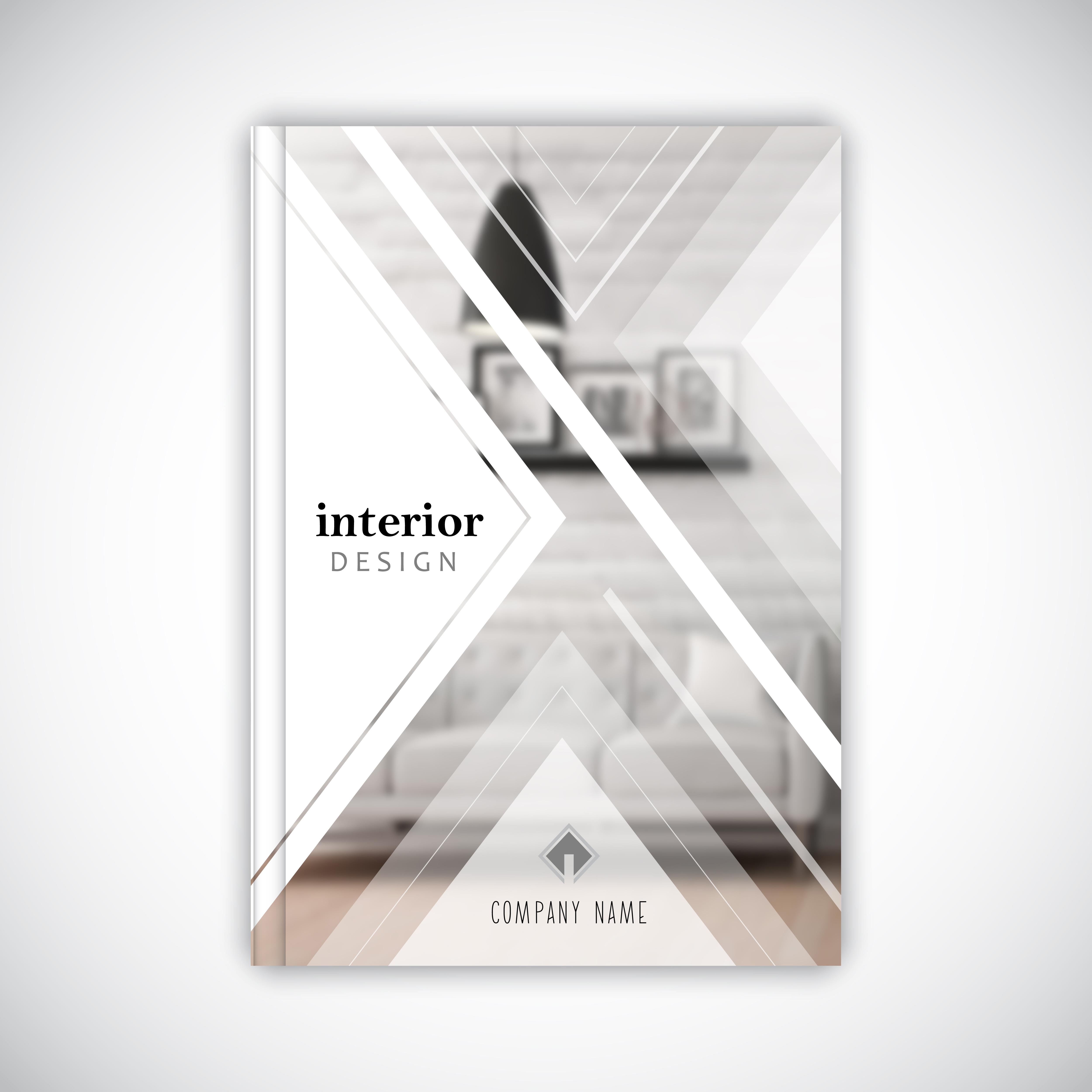 Design Template For An Interior Design Business Brochure Download Free Vectors Clipart Graphics Vector Art
