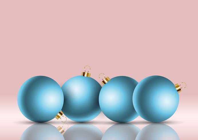 Fundo de bugiganga de Natal com estilo retrô