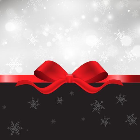 Fondo de Navidad con lazo rojo.