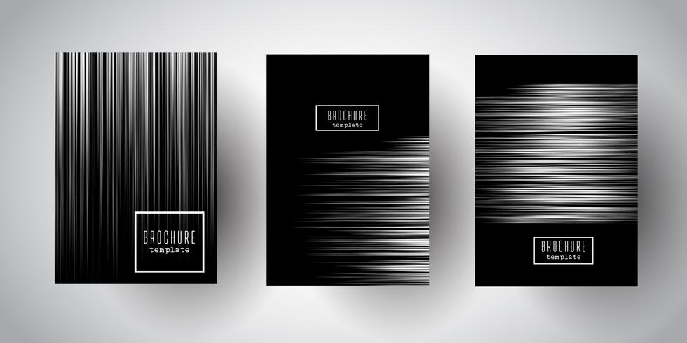 Silver striped brochure designs