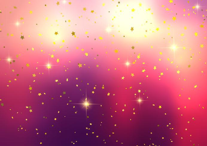 Sfondo festivo con coriandoli stella vettore