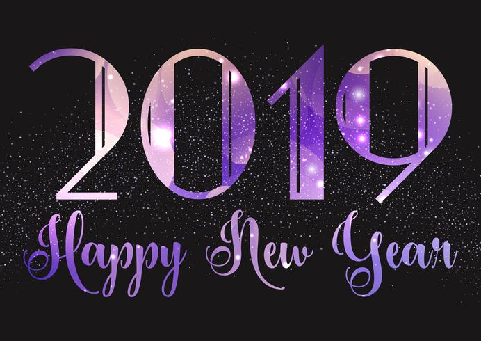 Sparkle Happy New Year background vector