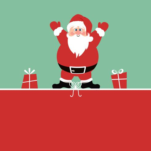 Christmas background with Santa Claus and gifts