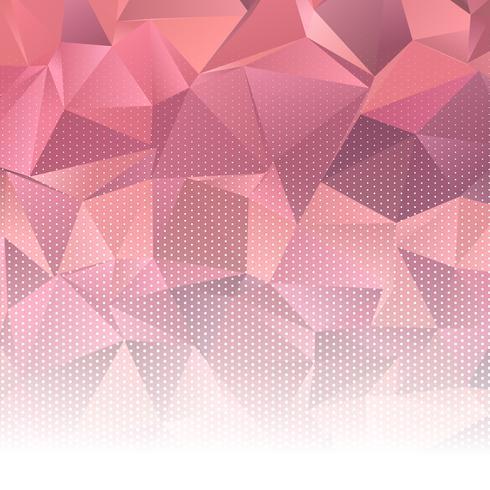 Diseño abstracto bajo poli con puntos de semitono