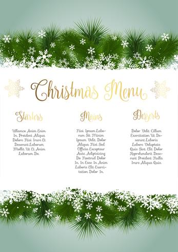 Christmas menu design vector