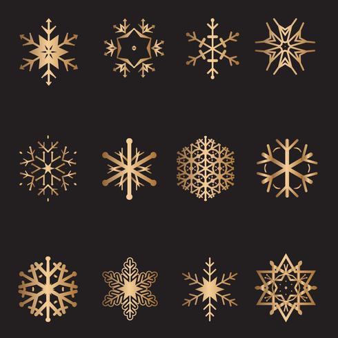 Raccolta di fiocchi di neve di Natale