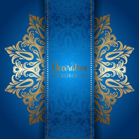 Elegante sfondo con un design mandala d'oro