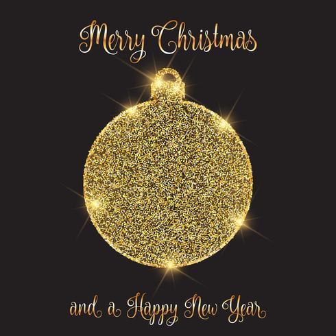 Fundo de Natal e ano novo com design de bugiganga brilhante